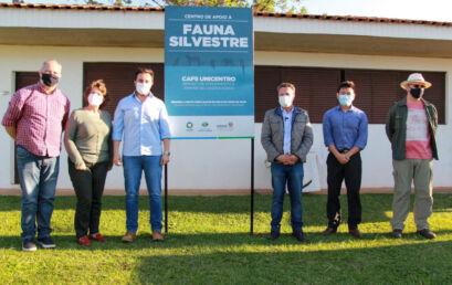 Centro de Apoio à Fauna Silvestre é inaugurado no campus Cedeteg
