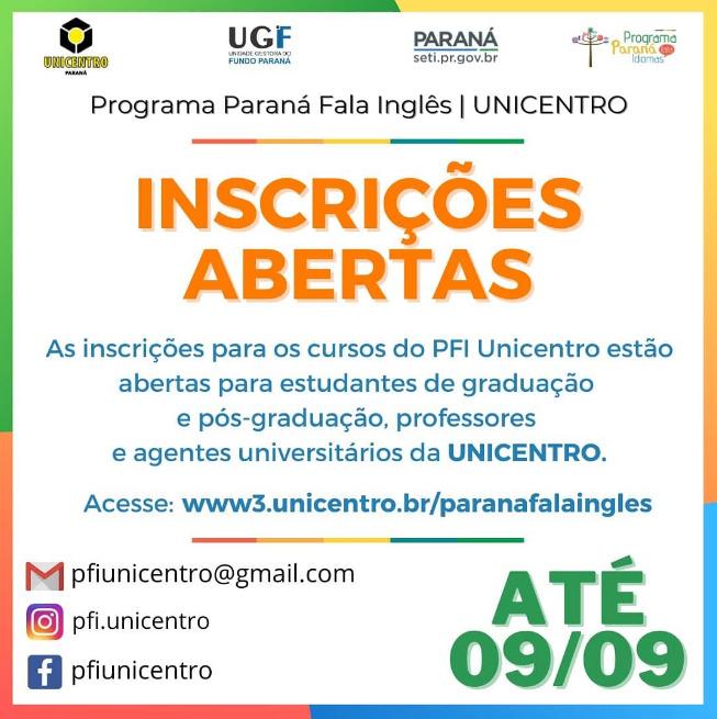 Abertas as inscrições para o cursos do Paraná Fala Inglês