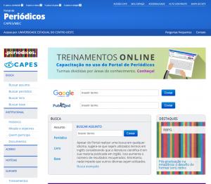Site do portal de periódicos da Capes