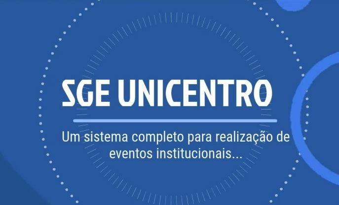 Conheça o SGE Unicentro!