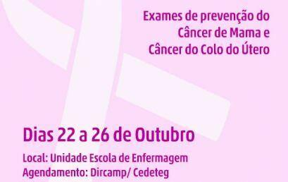 Exames preventivos do câncer de mamas e útero são realizados no campus Cedeteg