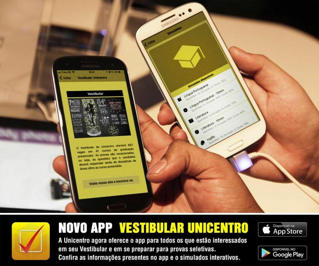 Lançado App Vestibular Unicentro