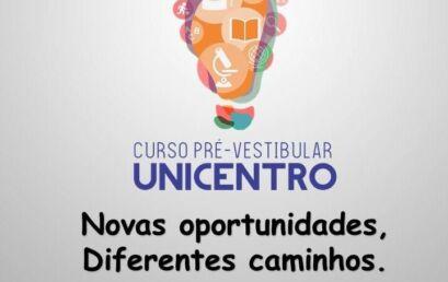 Abertas as inscrições para o Pré-Vestibular Unicentro