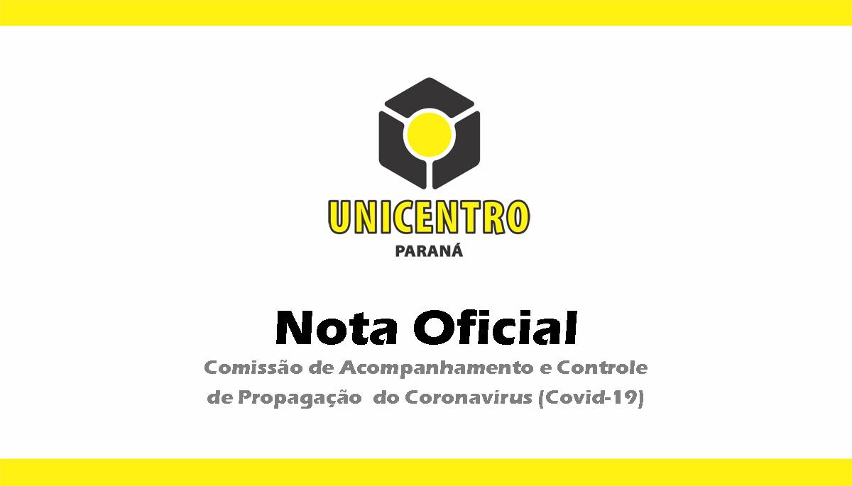 Comissão de Acompanhamento e Controle de Propagação do Coronavírus emite nova nota oficial