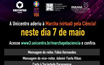 Unicentro adere a Marcha Virtual pela Ciência