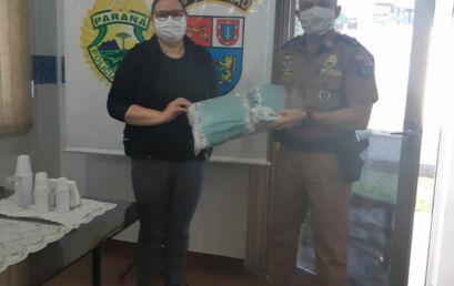 Unicentro repassa mais 900 máscaras cirúrgicas para Polícia Militar
