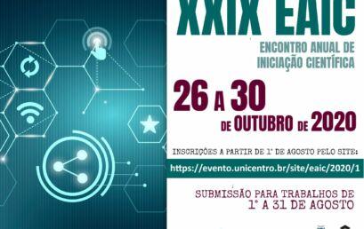 Unicentro prepara Encontro Anual de Iniciação Científica 2020