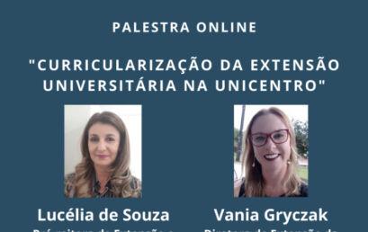 Unicentro compartilha experiência de curricularização da extensão com Unioeste