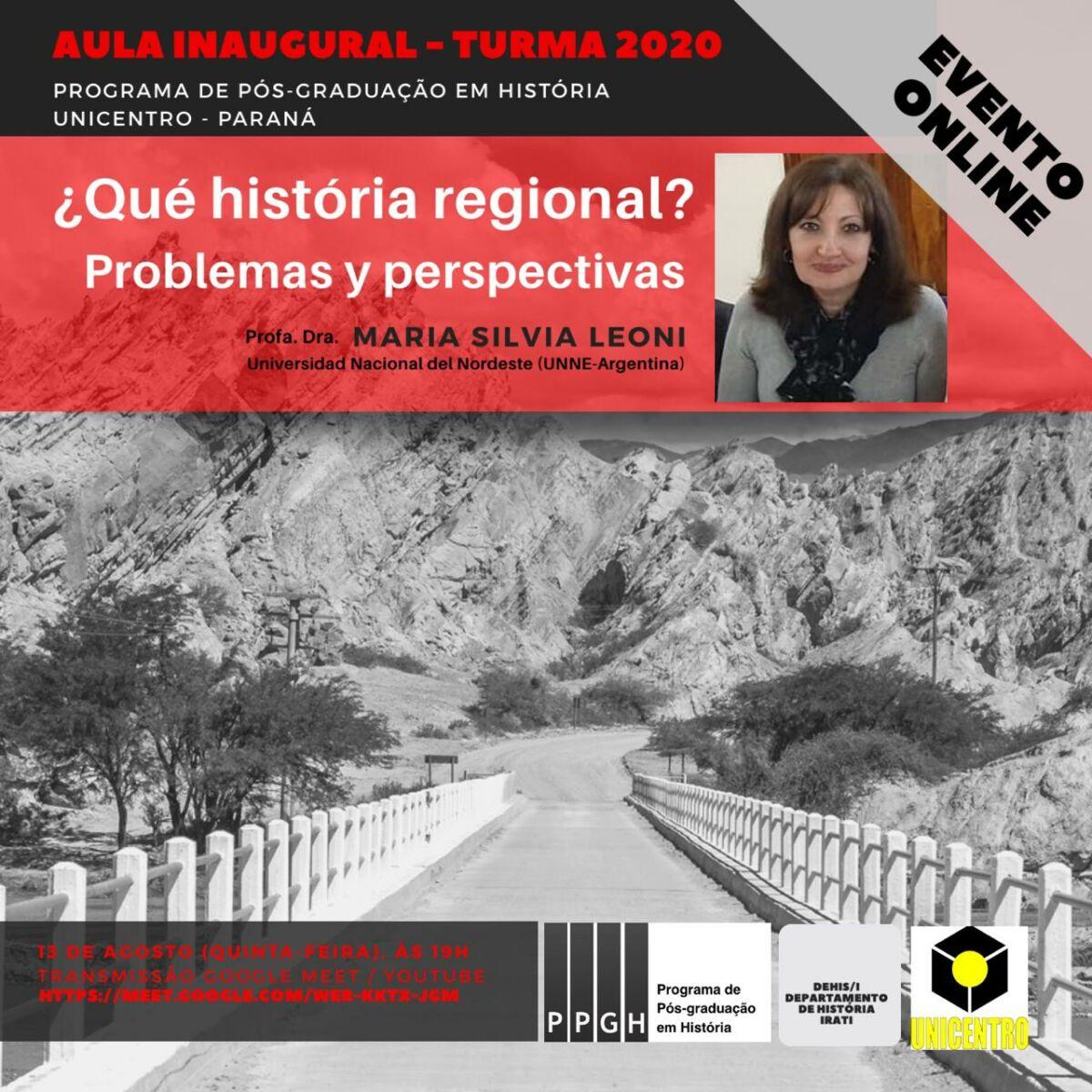 História Regional é tema de aula inaugural do Programa de Pós-Graduação em História