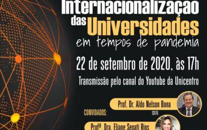 Internacionalização das universidades é tema de webinário nessa terça, 22