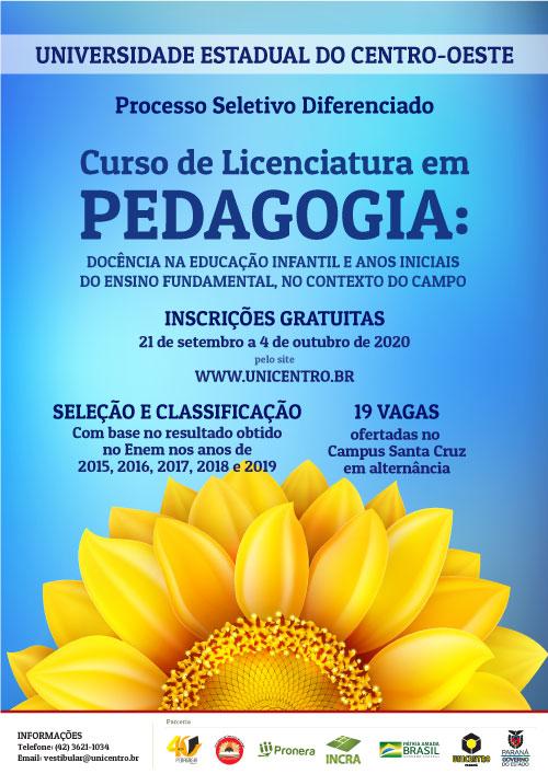 Inscrições para curso de Pedagogia no Contexto do Campo abrem segunda-feira, 21