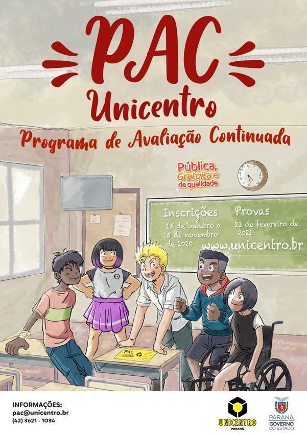 Inscrições para o PAC Unicentro vão só até domingo