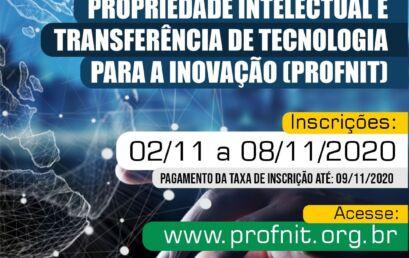 Últimos dias de inscrições para Mestrado em Propriedade Intelectual e Transferência de Tecnologia para Inovação