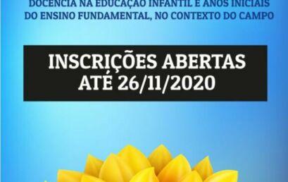 Unicentro recebe inscrições para vagas remanescentes para curso de Pedagogia do Campo