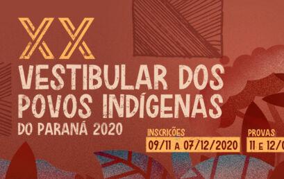 20º Vestibular dos Povos Indígenas do Paraná está com inscrições abertas