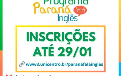 Paraná Fala Inglês está com inscrições abertas e terá aulas remotas no primeiro semestre