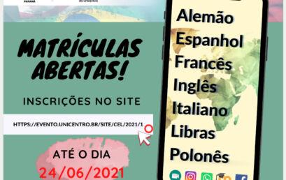 Centro de Línguas da Unicentro está com matrículas abertas