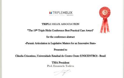Unicentro é premiada em Conferência da Tríplice Hélice