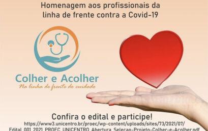 Unicentro seleciona voluntários para o Projeto Colher e Acolher