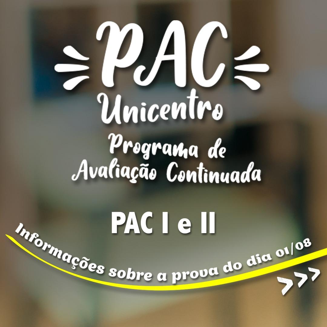 Unicentro realiza provas das etapas 1 e 2 do PAC 2020 nesse domingo