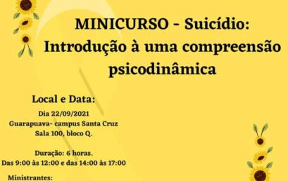 Minicursos promovidos pela Coordenadoria de Apoio ao Estudante formarão para a prevenção ao suicídio