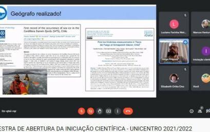 Palestra marca início das atividade de Iniciação Científica 2021-2022