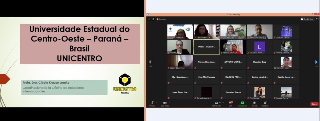 Docentes da Unicentro participam de Encontro Acadêmico Virtual da Universidade Veracruzana