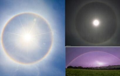Halo Solar ou Lunar e Arco-íris Lunar