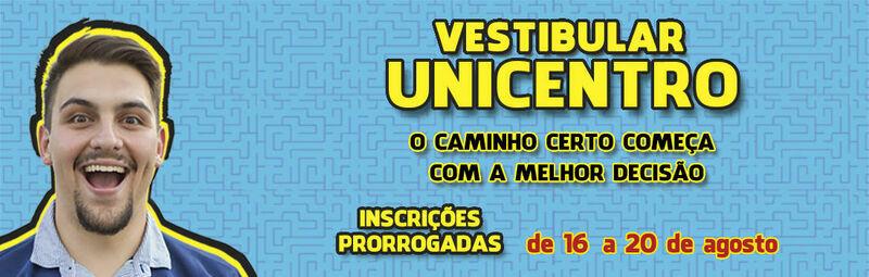 Vestibular Unicentro - Inscrições prorrogadas