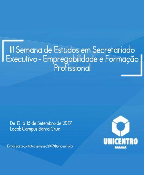 III Seminário de Estudos em Secretariado Executivo – Empregabilidade e Formação Profissional