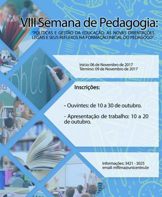 VIII Seminário de Pedagogia