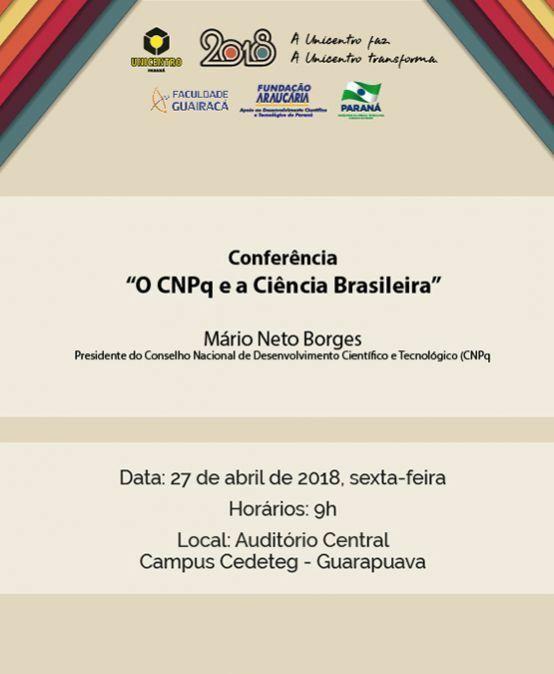 """Conferência """"O CNPq e a Ciência Brasileira"""""""