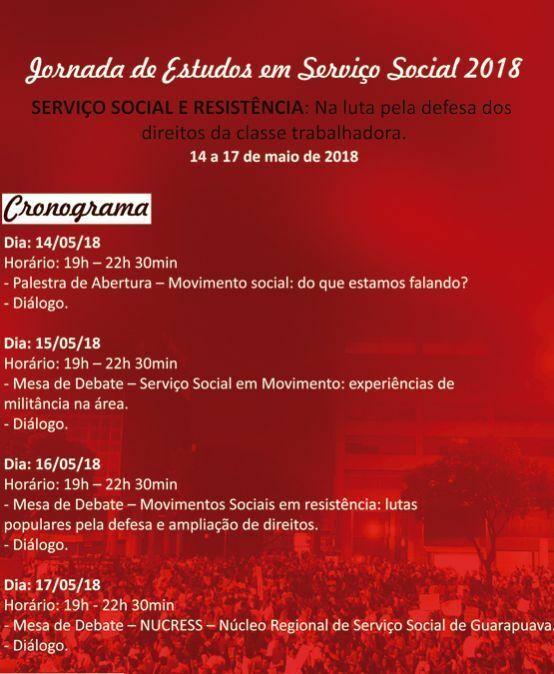Jornada de Estudos em Serviço Social 2018