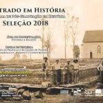 Mestrado de História está com inscrições abertas para o Processo Seletivo 2018