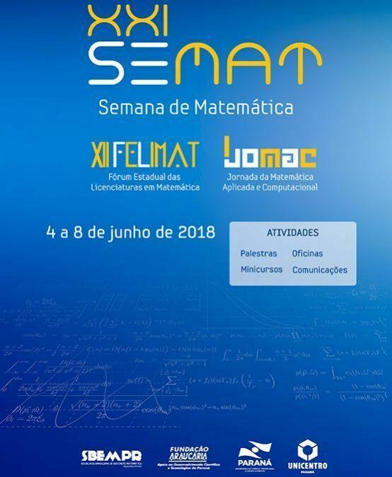 XXI Semana de Matemática e I Jornada de Matemática Aplicada e Computacional