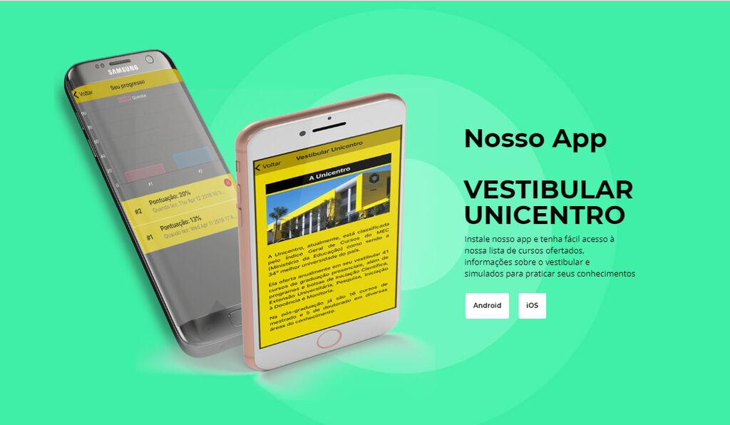 Unicentro lança aplicativo sobre Vestibular para dispositivos móveis