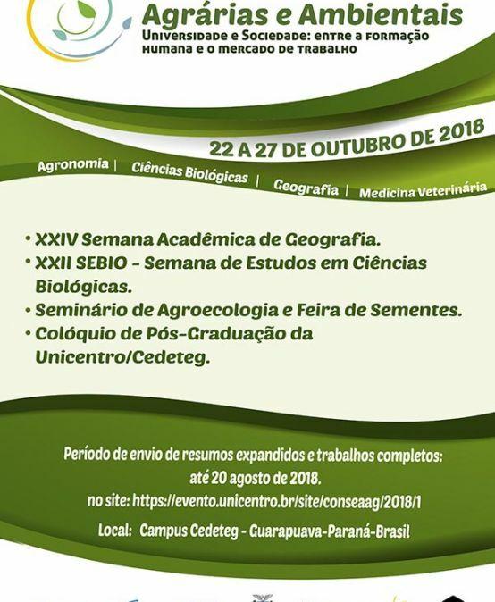 IV Conseaag – Congresso de Agrárias e Ambientais