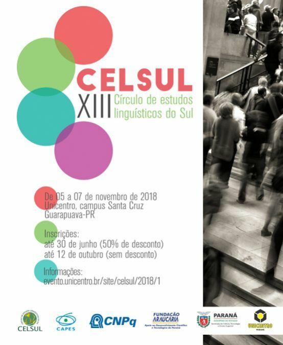 CELSUL 2018 – XIII Encontro do Círculo de Estudos Linguísticos do Sul