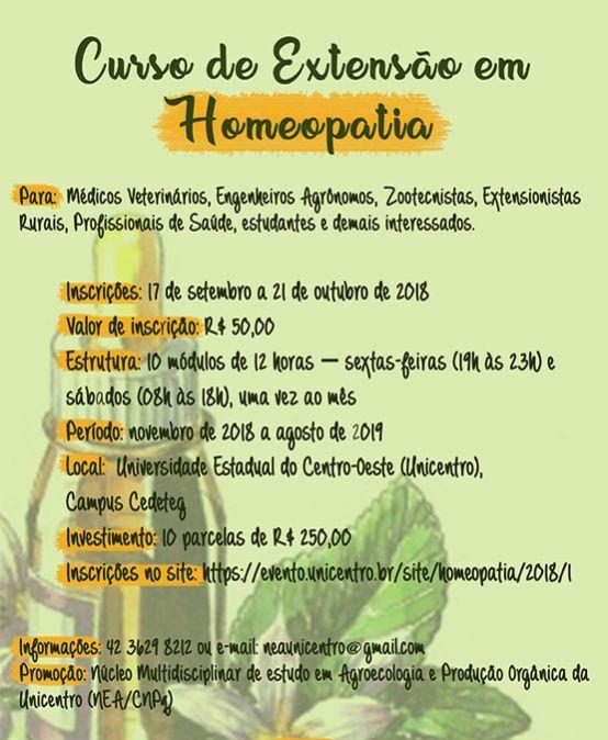 Curso de Extensão em Homeopatia