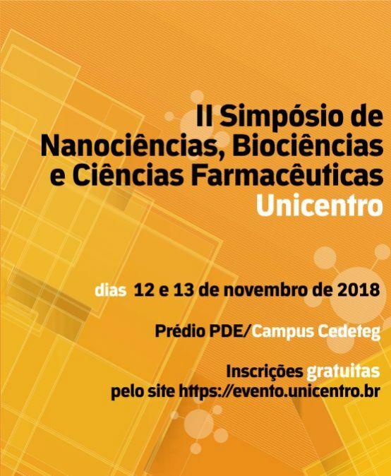 II Simpósio de Nanociências, Biociências e Ciências Farmacêuticas Unicentro