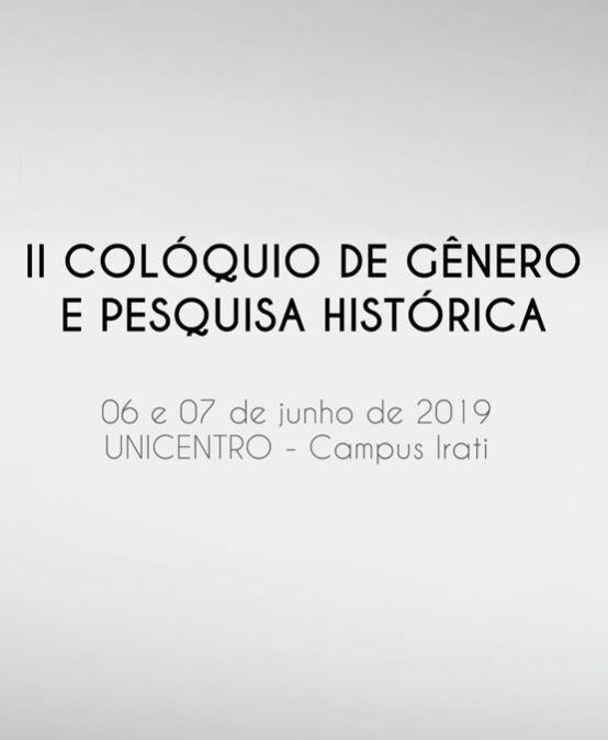 II Colóquio de Gênero e Pesquisa Histórica