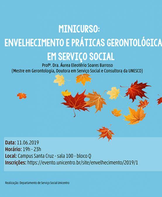 Minicurso: Envelhecimento e Práticas Gerontológicas em Serviço Social