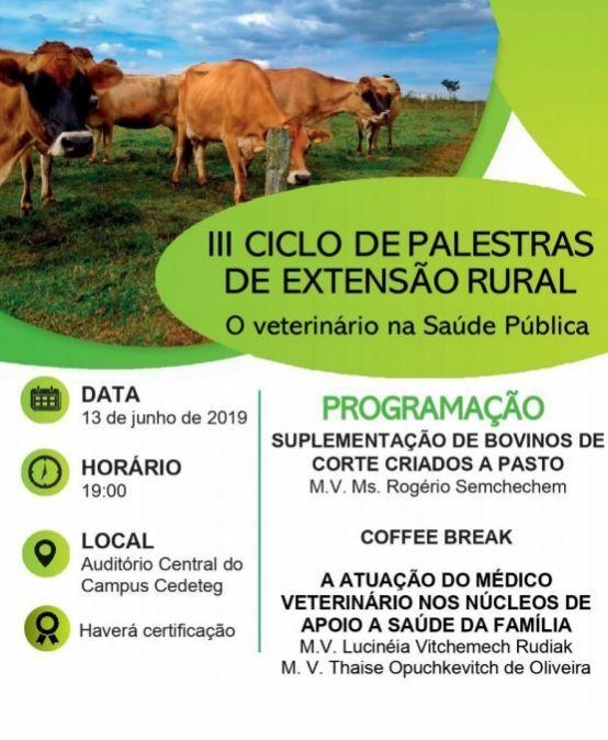 III Ciclo de Palestras de Extensão Rural