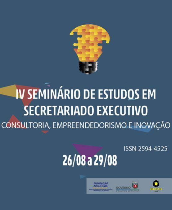 IV Seminário de Estudos em Secretariado Executivo: Consultoria, empreendedorismo e inovação