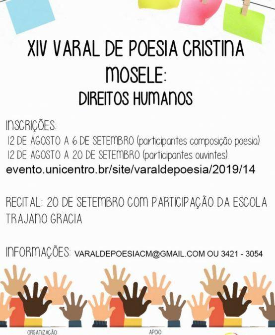 XIV Varal de Poesia Cristina Mosele: Direitos Humanos