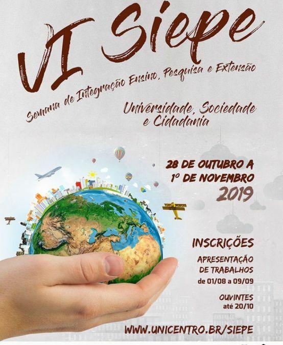 VI Siepe – Semana de Integração Ensino, Pesquisa e Extensão