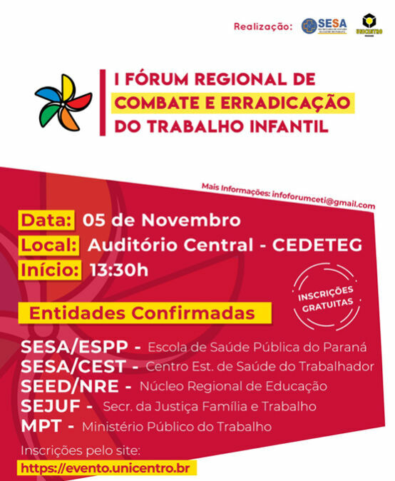 I Fórum Regional de Combate e Erradicação do Trabalho Infantil
