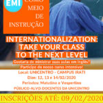 Inscrições abertas para o EMI (English as a Medium of Instruction)