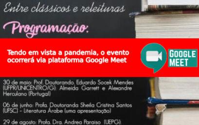 Sábados Literários: entre clássicos e releituras – Caetano Galindo (UFPR): Ulises, de James Joice – Via Plataforma Google Meet