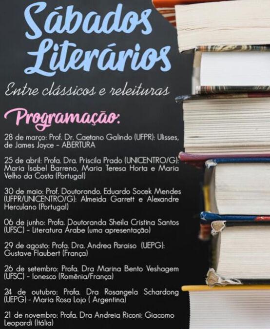 Sábados Literários: entre clássicos e releituras  – Profa. Dra Rosangela Schardong (UEPG)